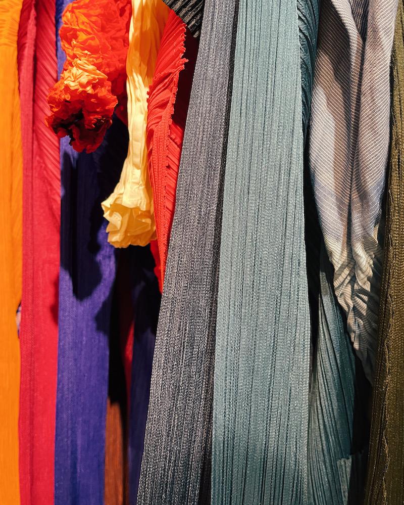 A mixture of textures at the Pleats Please Pop Up